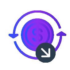 Increase profit icon
