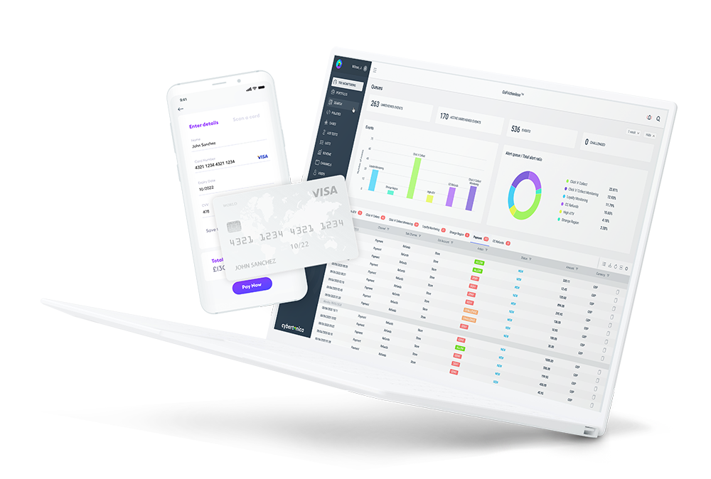 Cybertonica product dashboard layout mobile and tablet