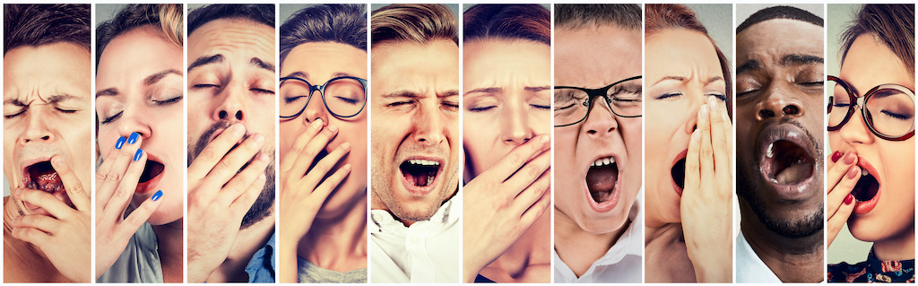 People yawning