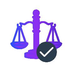 Balancing risk profile icon