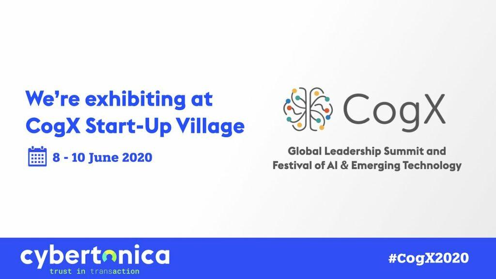 Cybertonica exhibitis at CogX startup village