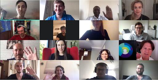 Cybertonica Team in a virtual meeting