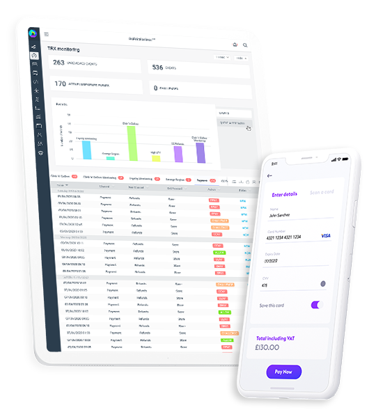 FraudSuite360™-dashboard layout on mobile and tablet