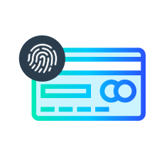 Payment increase fraud accuracy icon with behavioral biometrics and device safety scores.