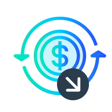 reduce chargebacks icon by lowering fraud and chargebacks by up to 70%.