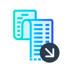 Reduce costs icon for reducing false-positives by up to 80%.